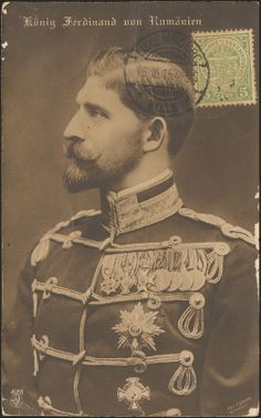 King Ferdinand of Romania. Ferdinand, Vintage Photographs, Wwi, Cousins, Reign, Romania, Royals, Charcoal, Europe