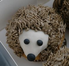 Hedgehog Cupcake - There For The Baking