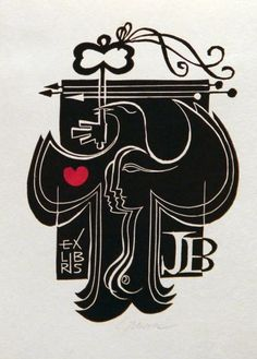 Ex libris J. B. - Manesova54.cz