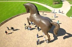 "Nina Akamu, ""The American Horse,"" 1998, Bronze, 24 feet"