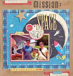 Disney Scrapbook Layout - Mission space