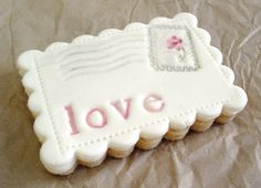 Love Postcard Cookie