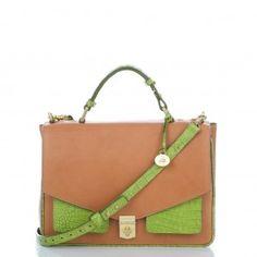 @Brahmin Nicolette Dream Bag in Lime , I love love love this bag #MyBrahminStyle