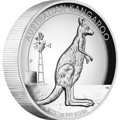 // Australian Kangaroo 2012 1oz Silver Proof High Relief Coin - Perth Mint Australia