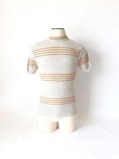 Vintage Men's Boucla Sweater / 1960's / Orange & by fourBvintage