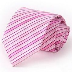 Stylish Various Pink Stripes Pattern 8.5CM Width Tie For Men