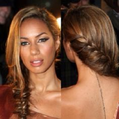 Leona Lewis' fishtail plait