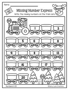 math This packet is perfect for the holiday season. Plenty of math and literacy practice with a fun holiday theme. There are now two options for many of the worksheets: Full page or half pa Kindergarten Math Worksheets, Math Literacy, Math Classroom, Preschool Activities, Math Math, Numbers Kindergarten, Numbers Preschool, Preschool Math, Grande Section
