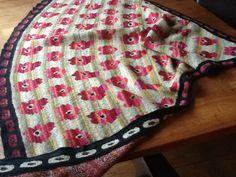 Klaproos sjaal patroon van Christel Seyfart