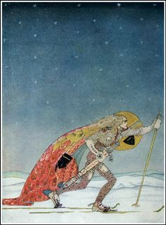 Kay Nielsen fairy tale art and illustrations. Kay Nielsen's enchanting illustrations to Grimm's Fairy Tales, the Fairy Tales of Hans Christian Andersen, East of the Sun West of the Moon, Twelve Dancing Princesses, and others. Kay Nielsen, Arthur Rackham, Art And Illustration, Art Nouveau, East Of The Sun, Gustave Dore, Fairytale Art, Figure Painting, Golden Age