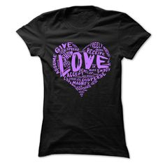 The Official Love Shirt Purple Print T-Shirts, Hoodies. CHECK PRICE ==► https://www.sunfrog.com/LifeStyle/The-Official-Love-Shirt-Purple-Print-Black-Ladies.html?id=41382