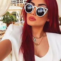Cut out cat eye sunglasses Trendy metal frame cut out cat eye style sunglasses new without tags 100% uv protection hand polished Accessories Sunglasses