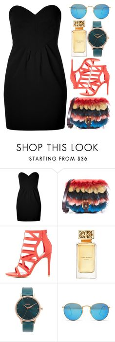 """""""It Gets So Hard To Speak"""" by egordon2 on Polyvore featuring Moschino, Paula Cademartori, Charlotte Russe, Tory Burch, Nixon and Ray-Ban"""