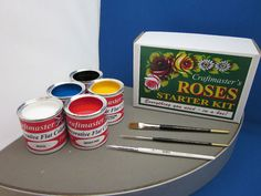 Craftmaster's Roses Starter Kit contains everything you need to learn how to paint traditional Canal Boat Roses. Designed by leading narrowboat decorator Phil Speight the kit contains full instructions (with an examples sheet) giving a step by step guide to painting roses. | eBay!