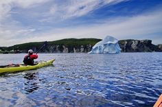 June is the best time to kayak with icebergs in the Twillingate area