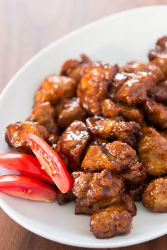Black Vinegar Pork ~ Ingredients 450 grams (1 pound) pork , cut into bite-size pieces 1 T Shaoxing wine 1/2 T soy sauce 1/2 T ginger juice 1/4 cup potato starch 2 T Shaoxing wine 2 T black vinegar 1 T rice vinegar 1 T soy sauce 2 T unrefined sugar ~~~~