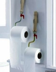 Awesome Paint Rolls As Toilet Paper Holders Design