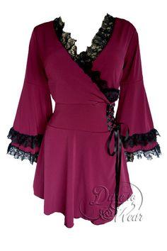 Dare To Wear Gothic Women's Victoria Corset Top Burgundy