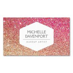 Elegant White Emblem On Copper Glitter Business Card Spa Business Cards, Business Card Maker, Makeup Artist Business Cards, Elegant Business Cards, Business Card Size, Business Card Design, Business Hair, Creative Business, Business Tips