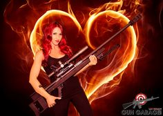 This week our #WCW is the newest edition to our Gun Girl Team! Come and see her and our beautiful .50 this Valentine's Day! #50BMG #AR50 #GunGirl #GunGarage