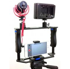 iShot Pro Universal 360° Adjustable Premium ALL METAL Filmmaking Video Rig Stabilizer Kit Camera Cage for iPhone Samsung Android Google Sony GoPro Action Cameras and More