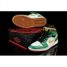 hot sale online 5a447 d2bf5 Men Jordan 1 High Basketball Shoes with Color Black White and  Clover Metallic Gold