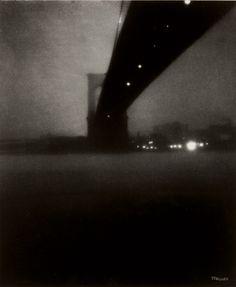 :: Edward Steichen - Brooklyn Bridge, New York City, circa 1903 :: by millicent Edward Steichen, Lee Friedlander, Vintage Photography, Street Photography, Art Photography, Straight Photography, Walker Evans, Andre Kertesz, Spencer Tunick