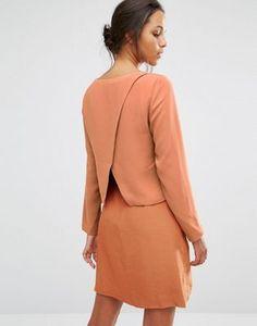 Selected – Pica – Kleid mit überkreuztem Design