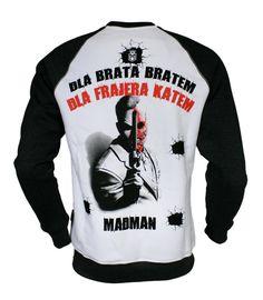 Bluza 'Dwie Twarze' - tył ---> Streetwear shop: odzież uliczna, kibicowska i patriotyczna / Przepnij Pina!