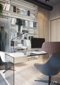 Contemporary apartment located in Moscow, Russia, designed by ONI Architects.