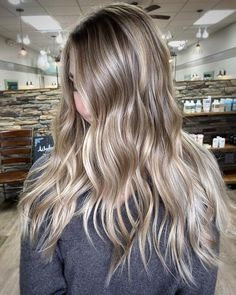 "TN. Balayage • Mary Todd Lewis on Instagram: ""Obsessed with this contrast! Icy ribbons of light blonde against her natural light brown. I used @oligopro for this finish, 8ai, 7a, & 8gi…"""