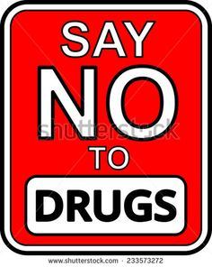 no drugs logo | Say no to drugs Stock Photos, Illustrations, and Vector Art