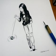 She customized her Yoyo by raultrevino.deviantart.com on @DeviantArt