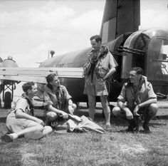 The crew of Vickers Wellington Mark X, HZ950, of No. 99 Squadron RAF, gather by…