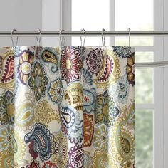 Home Essence Teen Tula Microfiber Printed Shower Curtain Image 3 of 5 Paisley Shower Curtain, Decor, Home Diy, Home Essence, Curtains, Colorful Shower Curtain, Curtain Patterns, Farmhouse Style Curtains, Printed Shower Curtain