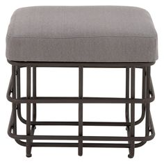 DecMode Metal and Fabric Ottoman - 14918