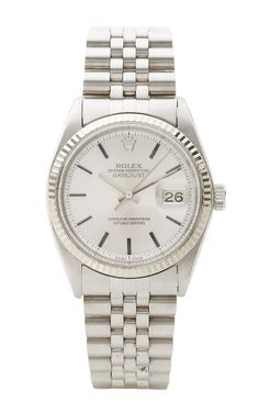 Vintage Rolex Datejust With Stainless Steel Jubilee Bracelet by CMT Fine Watch and Jewelry Advisors - Moda Operandi