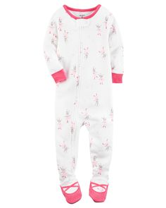 Baby Girl 1-Piece Snug Fit Cotton PJs from Carters.com. Shop clothing & accessories from a trusted name in kids, toddlers, and baby clothes.