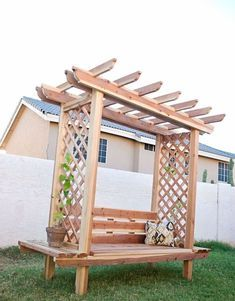 If you're looking for projects that you can start and finish in just a weekend's time, look no further than Outdoor Wood Projects. This collection of 25 Best DIY Outdoor Wood Projects Design Ideas can be c Diy Garden Furniture, Garden Sofa, Diy Outdoor Furniture, Furniture Ideas, Antique Furniture, Industrial Furniture, Palette Furniture, Rustic Furniture, Modern Furniture