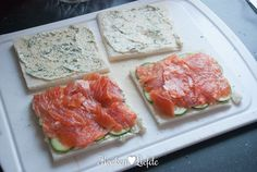 Serveer de sandwiches direct of wikkel ze goed in vershoudfolie en High Tea Sandwiches, Picnic Sandwiches, Sandwich Bar, Grilled Sandwich, Delicious Sandwiches, Sandwich Recipes, Brunch, Food And Drink, Appetizers