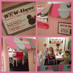 """What I want to make for Ava's a Minnie's Bow-tique for the girls to go """"shopping"""" in! I knew I could do it with a cardboard box!"""