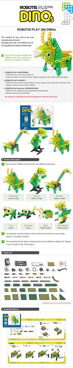¡¡Robotis play Dinos, para los enamorados de la robótica y los dinosaurios!!