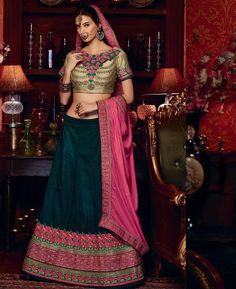 #hey @a1designerwear . Item code: APRL4423 . Buy Admirable Dark Teal Green #Lehenga #Choli #onlineshopping with #worldwideshipping at  https://www.a1designerwear.com/admirable-dark-teal-green-lehenga-choli   . #a1designerwear #a1designerwear . #instashop #worldwide #thankyou