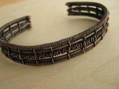 wire wrapped bracelet copper cuff bracelet men wire