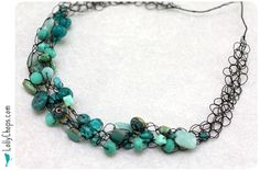 crocheted necklaces!