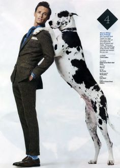 THIS is now officially my favorite picture of Eddie Redmayne.  Great Dane-mayne