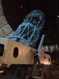 The 100 inch Hooker Telescope at Mt Wilson. Hubble used this 'scope in 1929 to discover the universe was expanding.