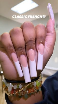 French Manicure Acrylic Nails, Best Acrylic Nails, Gel Nails, Nails Only, Love Nails, Trendy Nails, Stylish Nails, Drip Nails, Acylic Nails