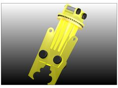 Beam splitter designed in a cad program. Fitted to a 70 tonne caterpillar