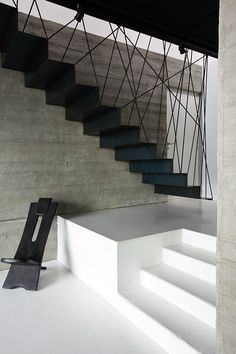 design of staircase armrest / design of staircase ; design of staircase wall ; design of staircase armrest ; Home Stairs Design, Railing Design, Interior Stairs, House Design, Wall Design, Design Design, Design Ideas, Metal Stairs, Modern Stairs